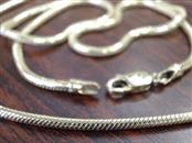 """ESTATE HMS 19"""" 1.8mm SNAKE CHAIN NECKLACE REAL 14K YELLOW GOLD 13g"""